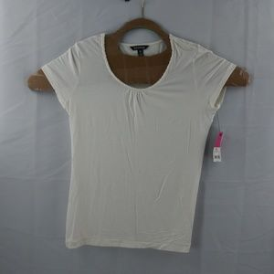 George Womens Small Ch White Short Sleeve Top
